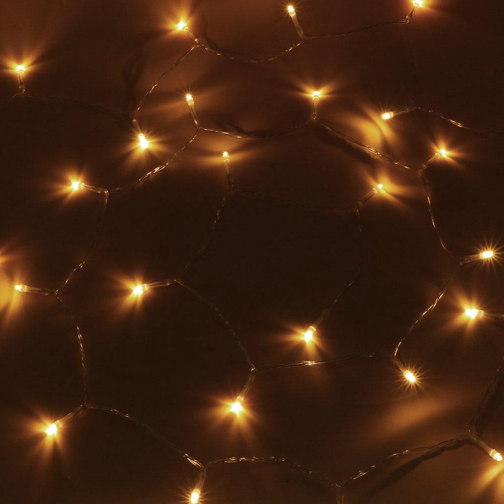 [은하수] 30구 투명선 피켓 LED 웜색전구(3M) (배터리) (전원잭포함) (40cm∼60cm트리용)